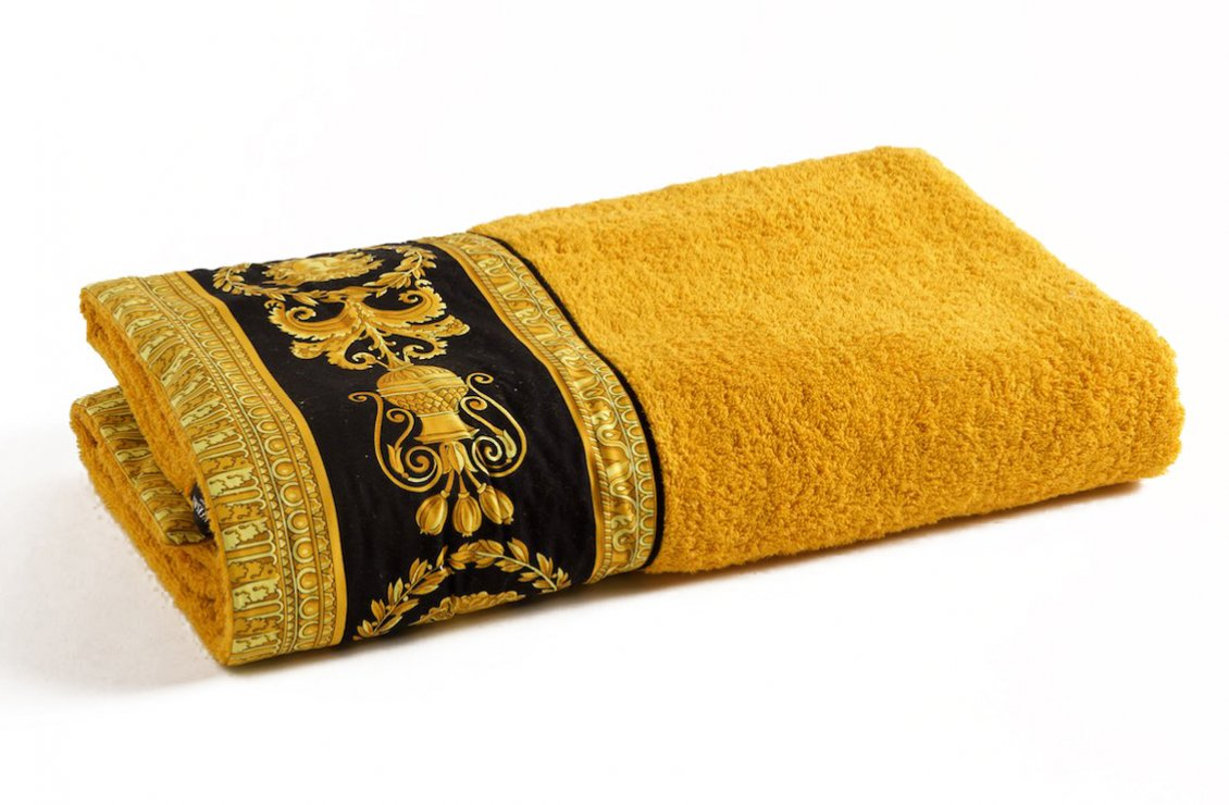 Barocco Bath Towel Gold Versace Home Australia