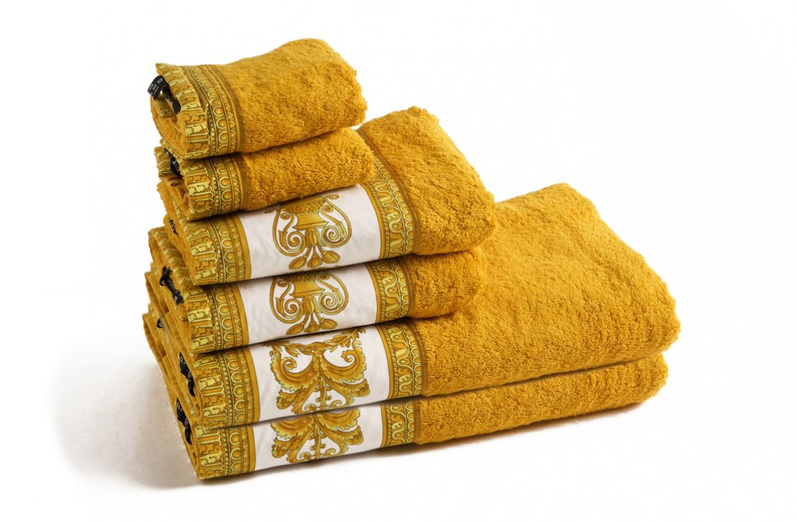 Barocco Towel Set Gold Versace Home Australia