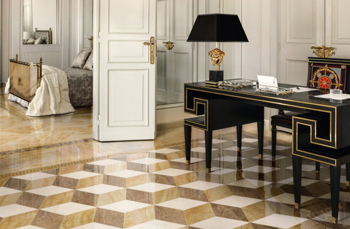 Marble tile collection versace home australia for Carrelage versace