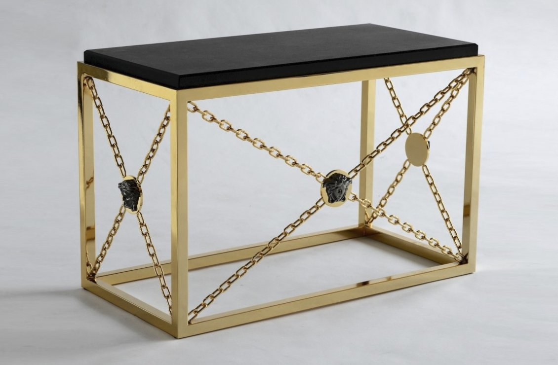 Duyal side table versace home australia for Table versace