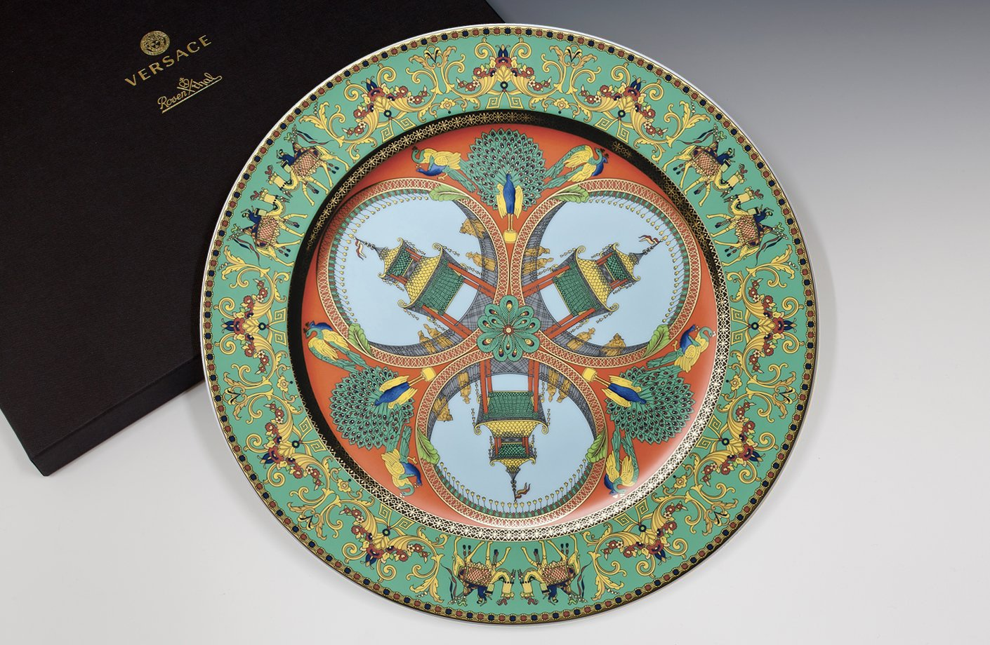 marco polo 20th anniversary wall plate 30 cm versace. Black Bedroom Furniture Sets. Home Design Ideas