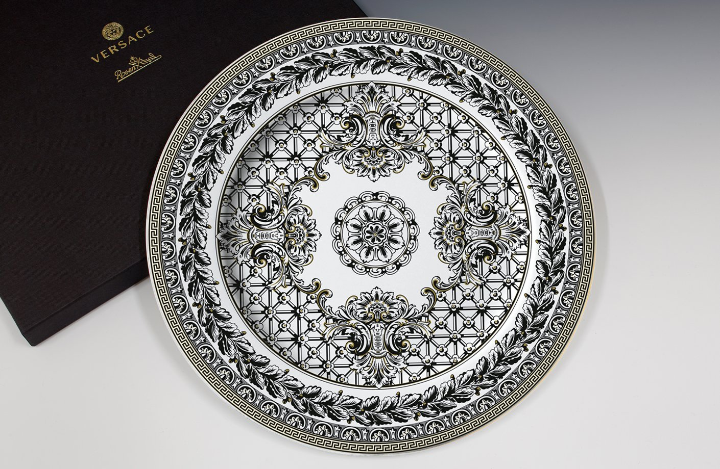 Marqueterie 20th Anniversary Wall Plate 30 Cm Versace